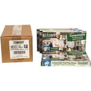 ECOSAFE CBG200 0.7 mil Medium Green Compostable Food Prep Gloves