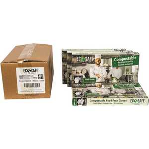 ECOSAFE CBG400 0.7 mil Extra-Large Green Compostable Food Prep Gloves