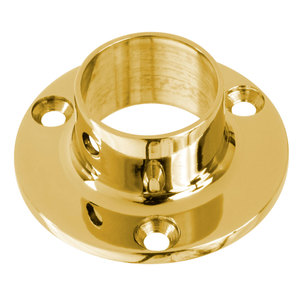 """Lavi 00-500/1 Wall Flange for 1-Inch Tubing 1"""" Polished Brass"""