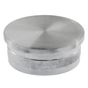 """Lavi 49-600PF/424 Knurled End Cap for Stainless Steel Handrail Tubing .080"""" 1.67"""" 316-Grade Satin Stainless Steel"""