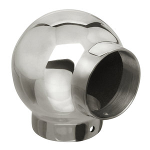 """Ball El Railing Component for 1.5-Inch Handrail 1.5"""" 304-Grade Polished Stainless Steel"""