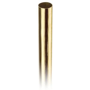 "Lavi 00-A100/4 1-inch Round Railing Tubing .050"" 4 feet 1"" Polished Brass"