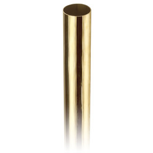 """Lavi 00-A110/4 Round Tubing for Handrails, Guardrails, and Stair Railing .050"""" 4 feet 1.5"""" Polished Brass"""