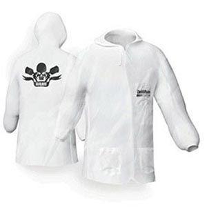 DeVilbiss 803664 803664 Hooded Lab Coat, Medium, White, Nylon, Elastic Waist