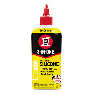 WD-40 WDF120008 3-IN-ONE Professional Silicone Lubricant, 4 oz Bottle