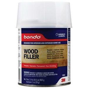 Bondo™ 20082 20082 Wood Filler, 1 qt Can, Brown, Liquid