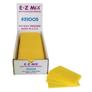 E-Z Mix® 51005 51005 Body Filler/Glaze Spreader, 5 in, Plastic, Yellow