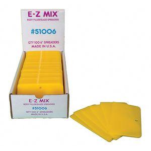 E-Z Mix® 51006 51006 Body Filler/Glaze Spreader, 6 in, Plastic, Yellow