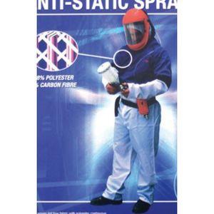 E-Z Mix® 74042 74042 Anti-Static Spray Suit, Medium, Carbon Fiber Threads, Adjustable Waist, Detachable Hood