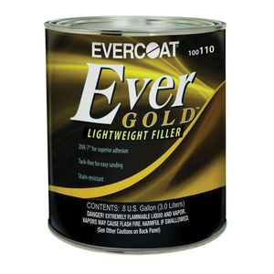 EVERCOAT® 100110 100110 Lightweight Body Filler, 3 L Can, Yellow, Liquidy Paste