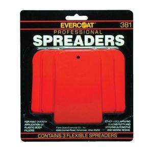 EVERCOAT® 100381 100381 Spreader Kit, 2-1/2 in, 4 in, 5 in, Plastic, Red