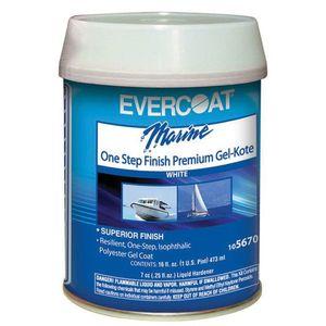 EVERCOAT® 105670 105670 One Step Finish Premium Gel-Kote, 1 pt Can, High Gloss White, Thick Liquid