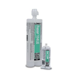 Fusor® 80849810167 114LG Fast Finishing Adhesive, 10.1 oz Cartridge, Red, 2K Component, 60 min Curing