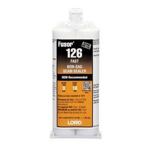 126 Fast Non-Sag Seam Sealer, 1.7 oz Cartridge, White, Paste, 2 hr Curing