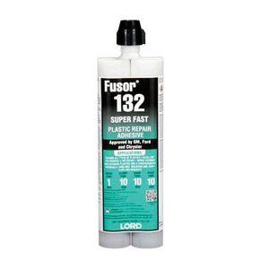 Fusor® 132 132 2-Part Super Fast Repair Adhesive, 10.1 oz Cartridge, Black, Paste