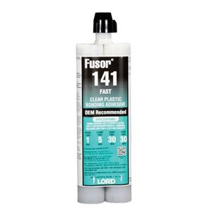 141 2-Part Fast Bonding Adhesive, 10.1 oz Cartridge, Clear, Paste
