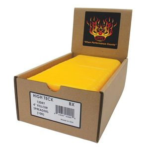 """High Teck Products 1204Y 4"""" Yellow Spreaders, Qty: 100, Display Box, 5/Case"""