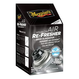 Meguiar's G181302 G181302 Whole Car Air Re-Fresher, 2 oz Aerosol Can, Clear, Liquid, Black Chrome