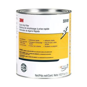 3M 33181 33181 Quick Grip Body Filler, 1 gal Can, Red, Paste