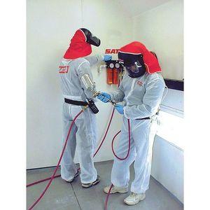 SATA 530058W 530058W Paint Suit, X-Large, White, Elastic Waist