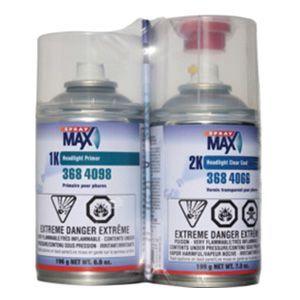 SprayMax, Peter Kwansy, Inc 3684099 3684099 Headlight Repair Kit, 6.9 oz (1K Headlight Primer), 7 oz (2K Headlight Clearcoat)