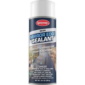 Sprayway® 209 SW209 Mirror Edge Sealant, 16 oz Aerosol Can, Clear, Aerosol
