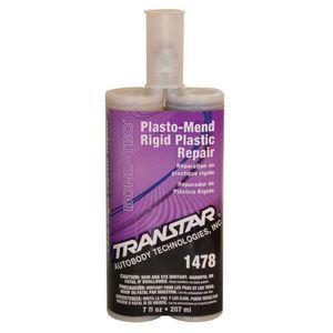TRANSTAR® 1478 1478 Plasto-Mend Rigid Plastic Repair, 200 mL Cartridge, Black, Semisolid, 24 hr Curing