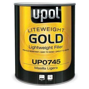 U-POL UP0745 UP0745 Lightweight Body Filler, 3 L Tin, Gold, Paste, Lightweight