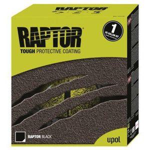 U-POL 0820VG 0820VG Low VOC Raptor Kit, 1 gal, Black, 125 sq-ft Coverage