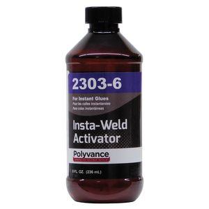 Polyvance 2303-6 2303-6 Insta-Weld Activator, 8 fl-oz Bottle with Sprayer, Liquid, Clear