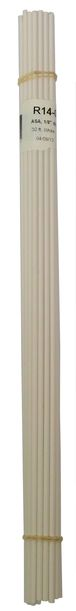 Polyvance R14-01-03-WH R14-01-03-WH Welding Rod, 1/8 in Dia x 12 in L, Round, Acrylonitrile Styrene Acrylate, White