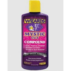 WIZARDS® 11038 11038 Smart Abrasive Buffing Compound, 8 oz, Off-White, Liquid