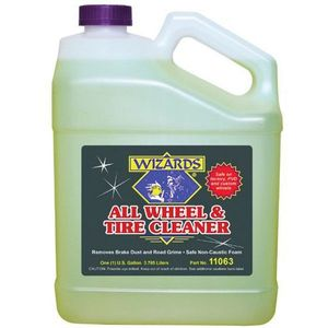 WIZARDS® 11063 11063 Wheel and Tire Cleaner, 1 gal, Liquid, Yellowish Brown, 1.7 g/L VOC