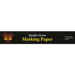 """High Teck Products NOGR28X06 Quality Green Masking Paper, Weight: 28#, Size: 6"""" X 750'"""