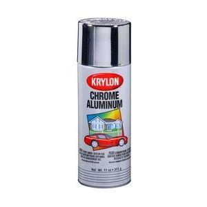 KRYLON 1404 Krylon Metallic Paints; Chrome Aluminum; 12 oz. Aerosol