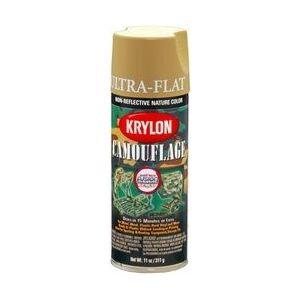 KRYLON 4291 Krylon Camouflage Paint with Fusion for Plastic Technology; Camouflage Khaki;