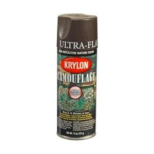 KRYLON 4292 Krylon Camouflage Paint with Fusion for Plastic Technology; Camouflage Brown;
