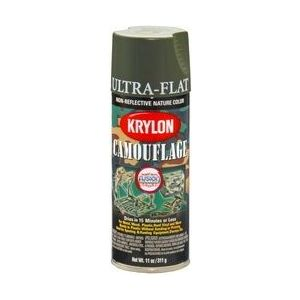 KRYLON 4293 Krylon Camouflage Paint with Fusion for Plastic Technology; Camouflage Olive;