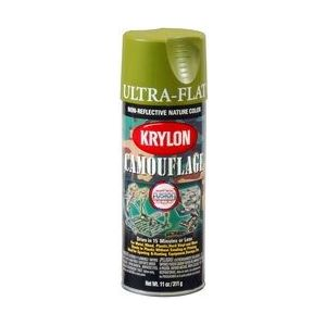 KRYLON 4296 Krylon Camouflage Paint with Fusion for Plastic Technology; Camouflage Woodlan