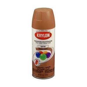 KRYLON 53562 Krylon Decorator Satin Touch; Brown Boots; 12 oz. Aerosol