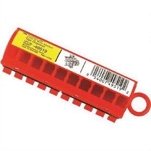 3M 49519 49519 STD-X Series Wire Marker Tape Dispenser, 5.46 mm, Red/Transparent