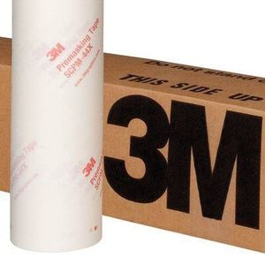 3M 80767 80767 SCPM-44X Series Premasking Tape, 100 yd x 24 in, 5 mil THK, Clear