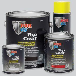 POR-15® 45801 45801 Top Coat DTM Paint, 1 gal Can, Gloss Black, Liquid, 30 to 60 min Curing