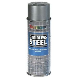 SEYMOUR® 16-054 16-054 Spray Paint, 16 fl-oz Aerosol Can, Stainless Steel, 15 sq-ft Coverage