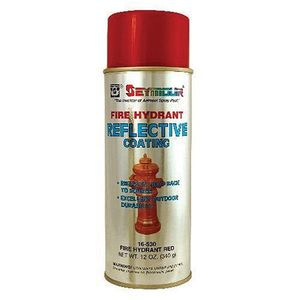 SEYMOUR® 16-530 16-530 Reflective Spray Paint, 16 fl-oz Aerosol Can, Fire Hydrant Red, 12 sq-ft Coverage