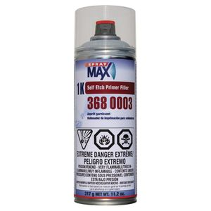 SprayMax, Peter Kwansy, Inc 3680003 3680003 Self-Etch Primer Filler, 11.2 oz Aerosol Can, Light Gray, 5.4 to 8.1 sq-ft Coverage