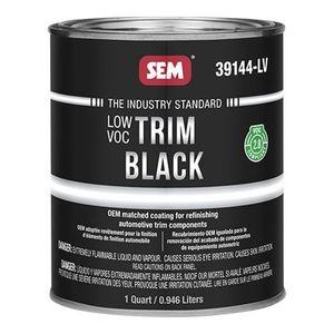 Trim Black 39144-LV 39144-LV Trim Paint, 1 qt, Black, Low VOC VOC, 5 to 10 min Curing, Liquid