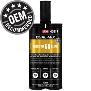 Dual-Mix™ 40517 40517 Urethane Adhesive, 7 oz Cartridge, Liquid, Black