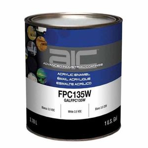 Sherwin-Williams Paint Company FPC135W16 FPC135W-1 2-Component 3.5 VOC Acrylic Enamel Top Coat, 1 gal Can, White