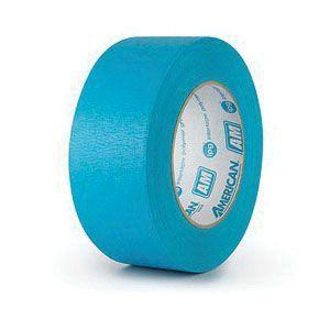 American® 08714300315 AM2455 Medium Grade Masking Tape, 54.8 m x 24 mm, 6.6 mil THK, Aqua Blue/Green